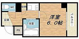 淡路ハイツ[6階]の間取り