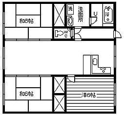 ブルースカイマンション[601号室]の間取り