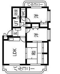 ユーミーアサヒ[3階]の間取り