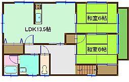 カーサ吉井C[C201号室]の間取り