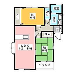 vivre堂林[2階]の間取り