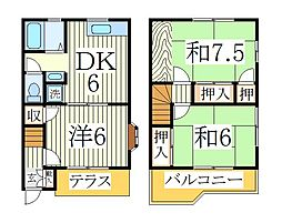 ピュアフィールドC[1階]の間取り