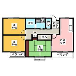 メゾンドエトワール[4階]の間取り