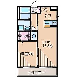 神奈川県横浜市鶴見区駒岡1丁目の賃貸アパートの間取り