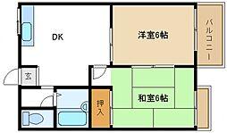 エステートAOI[2階]の間取り
