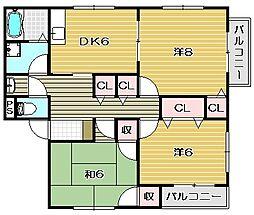 メゾンコトブキ[1階]の間取り