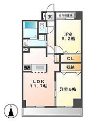 P−SQUARE Shumoku II[2階]の間取り