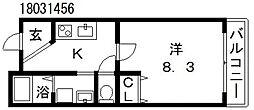 クローバーハイツ鷹合[3階]の間取り