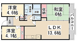 courtひらき坂[303号室]の間取り
