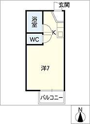 ホーリン原[1階]の間取り