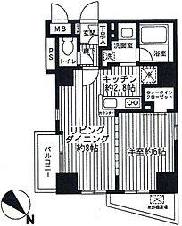 フェリズ町田[4階]の間取り