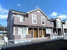 茨城県かすみがうら市下稲吉の賃貸アパートの外観