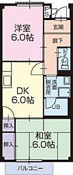 愛知県安城市横山町寺下の賃貸アパートの間取り