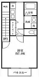 アムールYuki[0206号室]の間取り