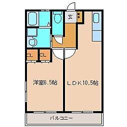 峯B棟[2階]の間取り