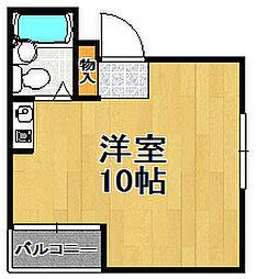 浜村マンション[4階]の間取り