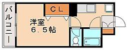 PLEAST大橋Ⅳ(旧 エタープ塩原)[2階]の間取り