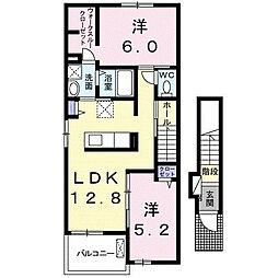 ラインハイトII[2階]の間取り