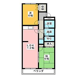 プレジオセブン[2階]の間取り
