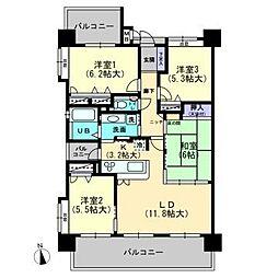 エスポワールマンション伊万里II[606号室]の間取り