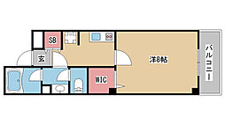 兵庫県神戸市中央区楠町5丁目の賃貸マンションの間取り