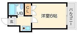 秋桜 1階1Kの間取り