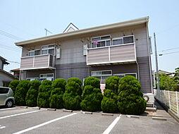 岡山県倉敷市中畝10の賃貸アパートの外観