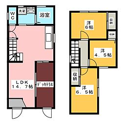 [テラスハウス] 愛知県名古屋市緑区姥子山5丁目 の賃貸【/】の間取り