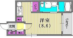 サンクラッソ神戸山手[1階]の間取り