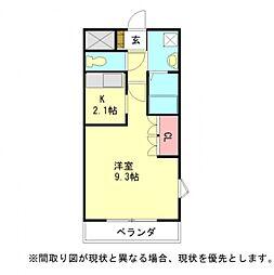 愛知県一宮市森本3丁目の賃貸アパートの間取り
