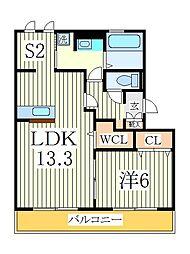 クレーストS[2階]の間取り