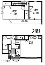 [テラスハウス] 神奈川県横浜市戸塚区名瀬町 の賃貸【/】の間取り