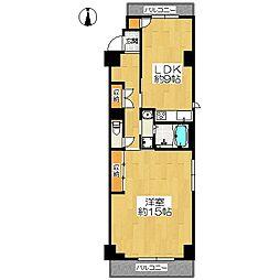 「ライオンズマンション二条高倉」[3階]の間取り