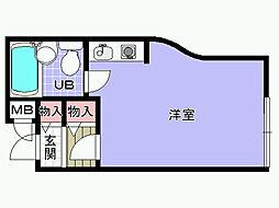 シャルマンフジ岸和田弐番館[203号室]の間取り