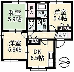 オリーブテラス B棟[2階]の間取り