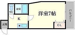 アーバン千林B棟[5階]の間取り