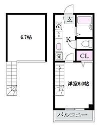 シャトレ南荻窪[2階]の間取り