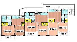 大倉山グリーンハイツ[303号室]の間取り
