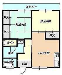 福岡県北九州市小倉北区宇佐町1丁目の賃貸マンションの間取り