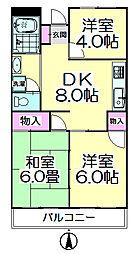 西新井サニーコーポ[201号室]の間取り