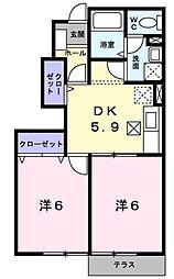 サンブローテ[1階]の間取り