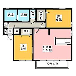 デュエルコート[2階]の間取り