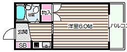 ヴェスタ天神橋[502号室]の間取り
