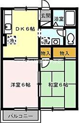 岡山県岡山市南区千鳥町丁目なしの賃貸アパートの間取り
