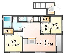 Sun・メゾン三木府内町[2階]の間取り