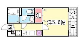 リブリ・新神戸[206号室]の間取り