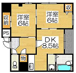 堺フェニックス[2階]の間取り