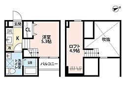 Haro Sakura[2階]の間取り