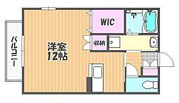 岡山県岡山市北区山科町の賃貸アパートの間取り