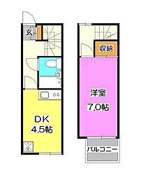 [テラスハウス] 埼玉県所沢市小手指町4丁目 の賃貸【/】の間取り